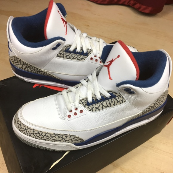 buy popular 2b880 27eb5 NIKE AIR JORDAN 3 TRUE BLUE SIZE 12 MENS W BOX